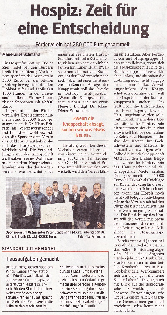 WAZ Bottrop, Artikel vom 25. Juni 2011